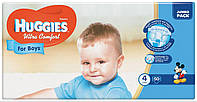Huggies Ultra Comfort for Boys 4 ( 7-16кг) 50 шт