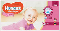 Huggies Ultra Comfort for Girls 4 ( 7-16кг) 50 шт