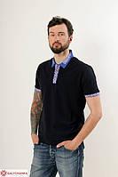 Молодежная мужская футболка с машинной  вышивкой