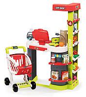 Интерактивный супермаркет City Shop Red Smoby - Франция - с тележкой, красного цвета