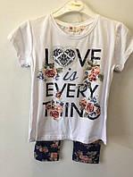 Красивый комплект футболка и лосины р. 5-8 лет