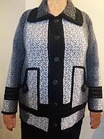Вязаный венгерский кардиган с карманами больших размеров