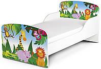Кроватка «Король джунглей» с матрасом 140*70