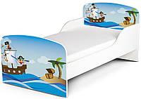 Кроватка «Маленький пират» с матрасом 140*70