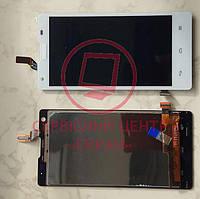 Huawei Ascend G700-U10 дисплей LCD + тачскрін сенсор оригінальний білий