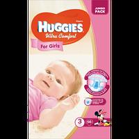 Huggies Ultra Comfort for Girls 3 ( 5-9кг) 56 шт (1шт-5,09грн)