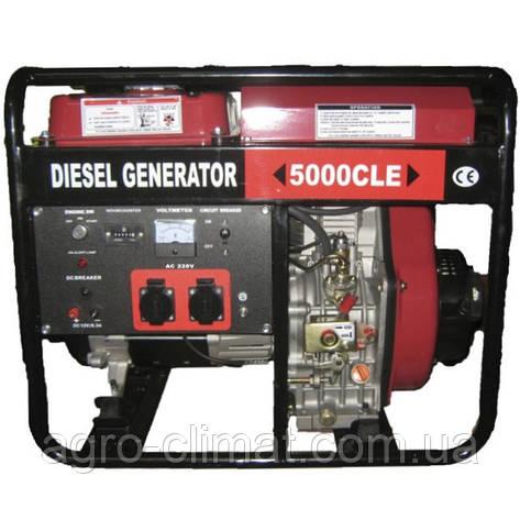 Дизельный генератор однофазный Weima WM5000CLE (5 кВт, 1 фаза, электростартер), фото 2