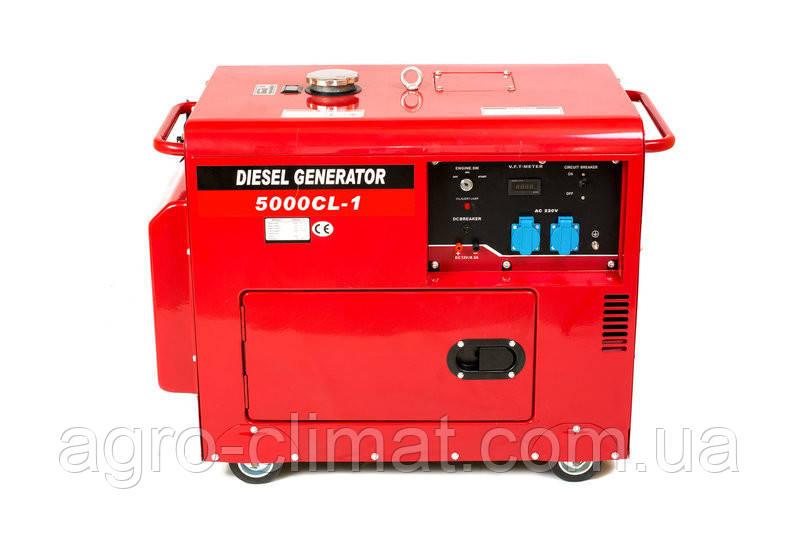Дизельный генератор Weima WM5000CLЕ-1 (5 кВт, 1  фаза, шумозащита Silent )