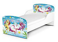 Кроватка «Пони» с матрасом 140*70