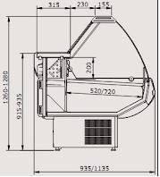 Прилавок охладжаемый Siena 1,1-2,0 ВС, фото 2