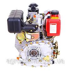 Двигатель, дизель, 6 л.с, электростартер Weima WM178FЕ (для мотоблока WM1100, вал под шлицы), фото 3