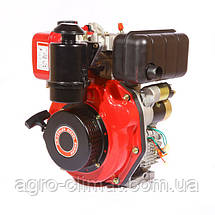 Двигатель, дизель, 6 л.с, электростартер Weima WM178FЕ (для мотоблока WM1100, вал под шлицы), фото 2
