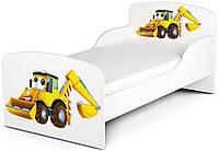 Кроватка Экскаватор с матрасом 140*70