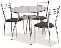 Стеклянный стол серебро Finezja  A (Signal)