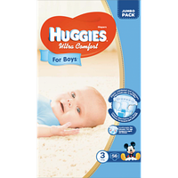 Huggies Ultra Comfort for Boys 3 ( 5-9кг) 56 шт