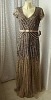 Платье вечернее шикарное Adrianna Papell р.48 7523