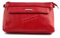 Женская маленькая сумочка с двумя ремешками на плечо и для ношения в руках с эко кожи Б/Н art. 8188 красная