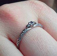 Серебрянное кольцо с танзанитом