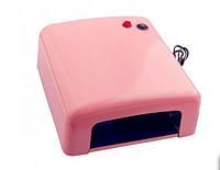 Лампа УФ для ногтей Global Fashion SK-818 розовая 36 ВТ, 4 Лампы