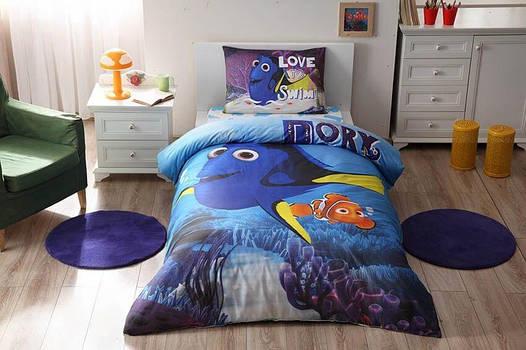 Детское подростковое постельное белье TAC Disney Finding Dory Movie Ранфорс