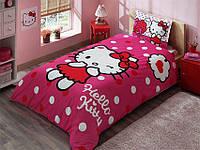 Детское подростковое постельное белье TAC Disney Hello Kitty Ранфорс