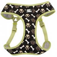 Шлея для собак Coastal Designer Wrap, 40,6-48,3см, 3,2-4,5кг, коричневые лапки.
