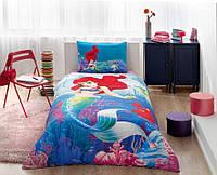 Детское подростковое постельное белье TAC Disney Ariel Ранфорс
