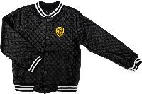 Демисезонная куртка бомбер для мальчика Porsche стеганная черная размер 122 128