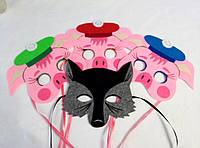 Набор масок Три поросенка. Сюжетно-ролевые игры. Игры с детьми.