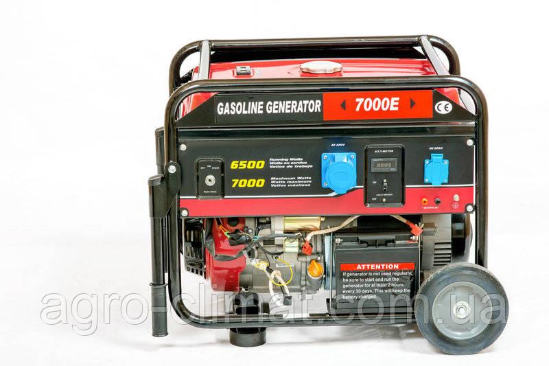 Генератор однофазный бензиновый Weima WM7000E ATS (7 кВт, 1 фаза, электрогенератор)