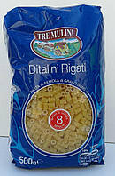 Макароны, Ditalini Rigati (Tre Mulini) 0,5 кг