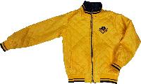 Весенняя куртка для мальчика двусторонняя желтая синяя размер 140