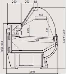 Витрина холодильник Gold 1,1-2,0, фото 2