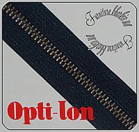 """Молния металлическая рулонная """"Opti""""Германия №5 темно-синяя №560 антик"""