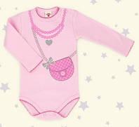 Боди детское польское для девочки новорожденных младенцев детей пижама человечек Makoma 0303DR