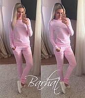 Модный женский нежно-розовый спортивный костюм. Арт-1292/49