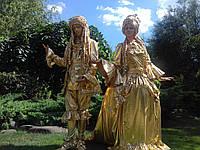 Золотые живые скульптуры на праздник