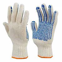 Перчатки вязаные хлопчатобумажные с ПВХ