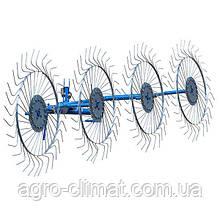 Грабли-ворошилки на круглой трубе ПроТек (Украина, 4 секции, толщина спицы 5мм)