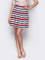 Легкая стильная женская юбка в полоску р.42,44,46