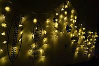"""Новогодняя светодиодная гирлянда бахрома (шторка, занавес) """"Теплые чувства"""""""