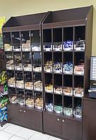 Пристенный кондитерский стеллаж для печенья и конфет (1,52 м)