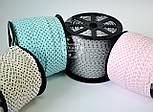 Косая бейка из хлопка  для окантовки со звёздами на розовом фоне, фото 4