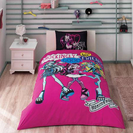 Детское подростковое постельное белье TAC Disney Monster High Best Friends Ранфорс