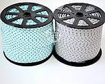 Косая бейка из хлопка  для окантовки с звёздами на светло-бирюзовом фоне, фото 2