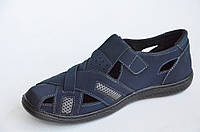 Босоножки, сандалии темно синие удобные и практичные прошиты Львов (Код: 667а) 45