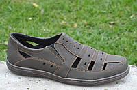 Босоножки, сандалии, туфли прошиты удобные и практичные коричневые Львов (Код: 668а) 44