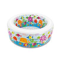 Детский бассейн «Аквариум» надувной пол, Intex 58480 интекс 152 х 56 см