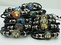 138 Модные браслеты с рисунками, браслеты фенечки унисекс, Одесса 7 км.