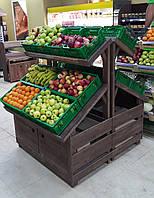 Стеллаж торговый для овощей и фруктов (теплые полки для овощей)